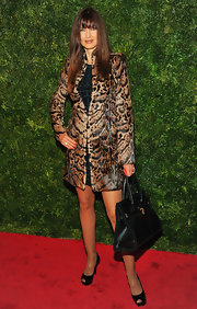 Carol Alt got wild in this plush leopard print coat at the HBO screening.