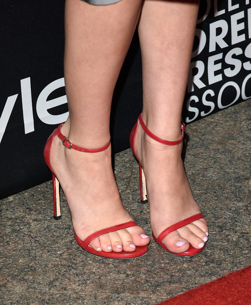 More Pics of Jena Malone Strappy Sandals (1 of 14) - Jena Malone Lookbook - StyleBistro [footwear,leg,human leg,high heels,sandal,foot,toe,ankle,shoe,calf,tiff celebration - arrivals,jena malone,fashion detail,windsor arms hotel,toronto,canada,instyle,hfpa,toronto international film festival,celebration]