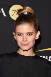 Kate Mara sported a cool top knot at the HFPA and InStyle TIFF celebration.