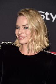 Margot Robbie was stylishly coiffed with a wavy bob at the HFPA and InStyle TIFF celebration.