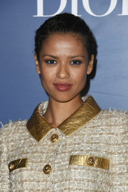 Gugu Mbatha-Raw's eyes couldn't be missed thanks to her bright blue liner.