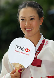 Michelle Wie looked enchanting with her braided updo and Korean costume at the 2011 HSBC Women's Champions.