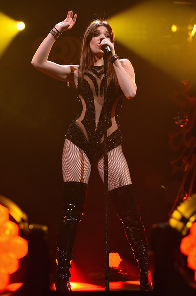 Hailee Steinfeld Bodysuit [performance,entertainment,performing arts,music artist,singing,music,performance art,stage,singer,event,hailee steinfeld,philadelphia,pa,wells fargo center,q102,capital one,jingle ball 2015 - show]