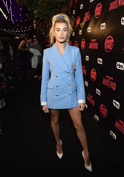 Hailey Baldwin Military Jacket
