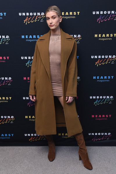 Hailey Bieber Over the Knee Boots