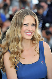Petra Nemocova wore her long highlighted tresses in smooth waves while at the Cannes Film Festival.