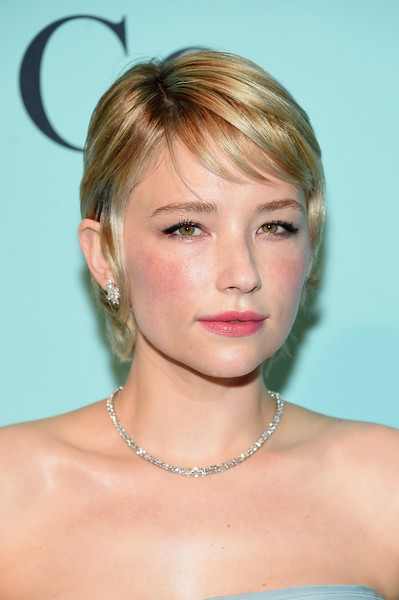 Haley Bennett Pixie [red carpet,hair,face,hairstyle,blond,chin,eyebrow,beauty,forehead,lip,bangs,haley bennett,ann,warehouse,new york city,tiffany co.,blue book collection gala,blue book collection gala at st]