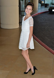 Bailee Madison stepped out at the Hallmark Channel event wearing a pair of patent pumps.