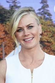 Alison Sweeney attended the Hallmark Channel Summer TCA Press Tour wearing an elegantly styled ponytail.