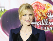 Courtney Thorne-Smith styled her hair into a beehive with parted bangs for the Hallmark Channel Winter TCA Press Tour.