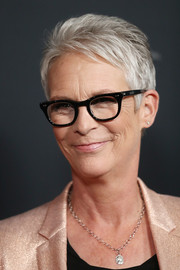 Jamie Lee Curtis sported her signature silver pixie at the Australian premiere of 'Halloween.'