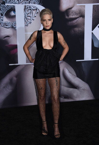 Halsey Sheer Dress [fifty shades darker,fashion,clothing,fashion model,beauty,skin,model,haute couture,human,runway,see-through clothing,arrivals,singer halsey,california,los angeles,the theatre,ace hotel,universal pictures,premiere,premiere]