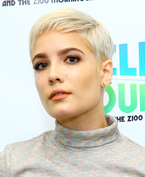 Halsey Pixie [the elvis duran z100 morning show,hair,face,hairstyle,blond,eyebrow,chin,skin,lip,head,beauty,singer halsey,new york city,z100 studio]