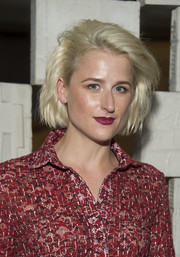 Mamie Gummer looked stylish with her teased bob at the Hammer Museum Gala in the Garden.