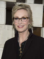Jane Lynch went for an edgy-chic razor cut at the Hammer Museum Gala.