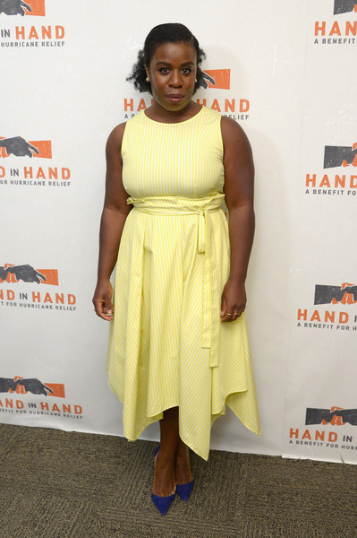 More Pics of Uzo Aduba Half Up Half Down (1 of 3) - Uzo Aduba Lookbook - StyleBistro