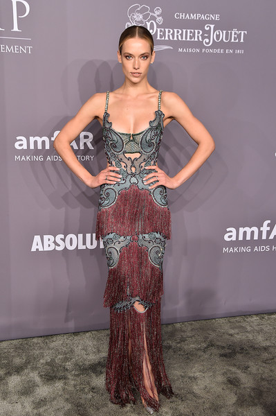 Hannah Ferguson Fringed Dress