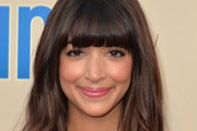 Hannah Simone Long Wavy Cut with Bangs