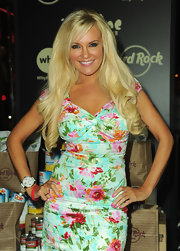 Bridget Marquardt kept her accessories simple, except for a white oversize watch paired with pink gummy bracelets.