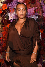 Paloma Elsesser added subtle sparkle to her look with diamond bracelets on both wrists at the 2019 Harper's Bazaar Icons event.