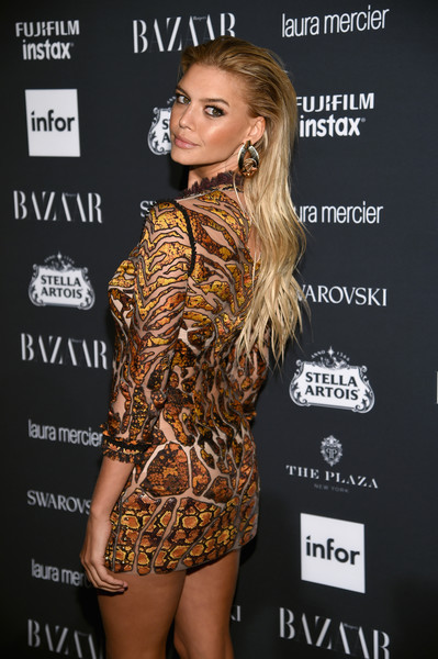 More Pics of Kelly Rohrbach Strappy Sandals (1 of 6) - Kelly Rohrbach Lookbook - StyleBistro [clothing,fashion,dress,leg,fashion model,carpet,shoulder,thigh,joint,muscle,carine roitfeld,stella artois,laura mercier,icons,swarovski - red carpet,harpers bazaar celebrates,plaza hotel,infor,fujifilm,harpers bazaar celebration]