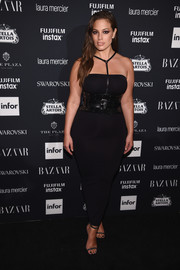Ashley Graham completed her head-turning look with a pair of studded heels.