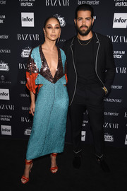 Cara Santana looked fab in a tricolor paillette dress by Galia Lahav at the Harper's Bazaar Icons event.