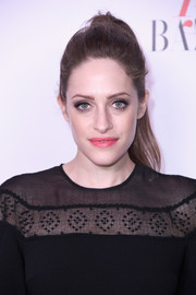 Carly Chaikin kept it casual with this ponytail at the Harper's Bazaar 150 Most Fashionable Women celebration.