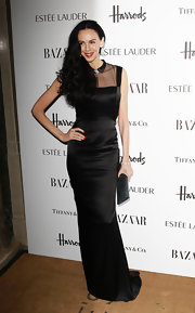 The gorgeous neckline on L'Wren Scott's evening gown was stunning.