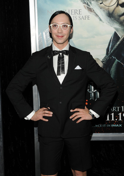 More Pics of Johnny Weir Men's Suit (2 of 5) - Johnny Weir Lookbook - StyleBistro