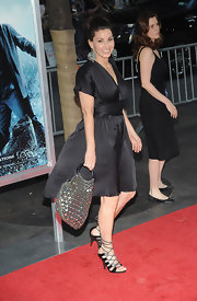 A studded tote added some sparkle to Gina Gershon's look during the premiere of 'Harry Potter and the Half-Blood Prince.'