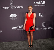 Chloe Sevigny was a cutie in her bow-adorned red Miu Miu dress at the amfAR New York Gala.