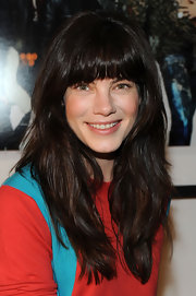 Michelle Monaghan showed off her long straight cut with blunt cut bangs at the Have a Heart for Children event.