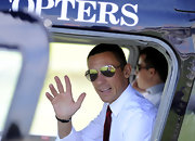 Frankie Dettori looked all set for some action in his aviators.