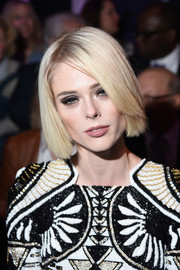 Coco Rocha debuted a stylish blonde bob at the launch of HearstLive.