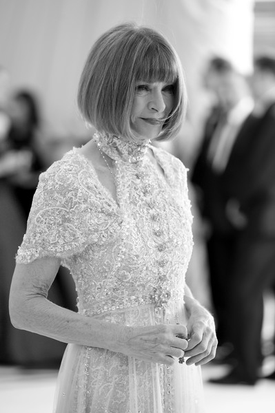 More Pics of Anna Wintour Cutout Dress (5 of 22) - Dresses & Skirts Lookbook - StyleBistro [image,hair,white,photograph,black-and-white,black,lady,dress,monochrome photography,hairstyle,fashion,anna wintour,metropolitan museum of art,new york city,heavenly bodies: fashion the catholic imagination costume institute gala - arrivals]