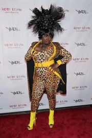 A pair of bright yellow cutout boots completed Danielle Brooks' costume.