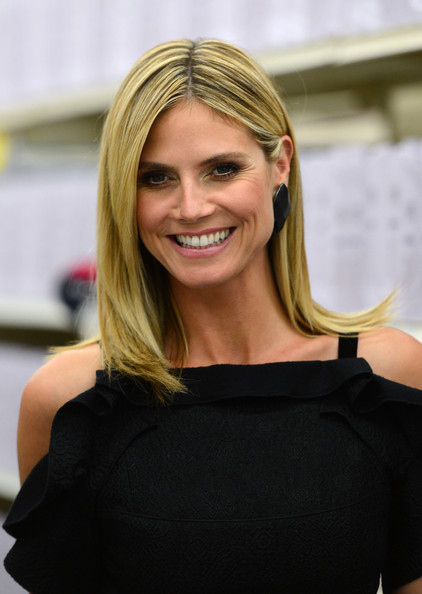 More Pics of Heidi Klum Long Straight Cut (1 of 16) - Long Straight Cut Lookbook - StyleBistro