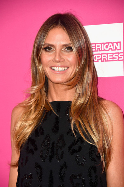 Heidi klum hair looks stylebistro heidi klum long center part urmus Images