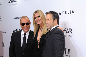 Heidi Klum Michael Kors FIJI Water At amfAR New York Gala