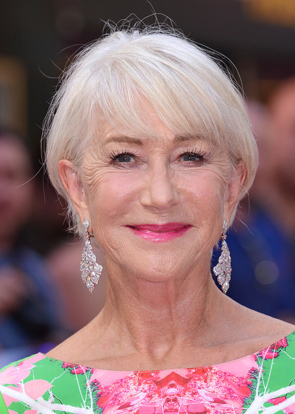 Helen Mirren Pink Lipstick [fast furious: hobbs shaw,fast and furious,hair,face,hairstyle,blond,eyebrow,lip,chin,beauty,skin,bangs,red carpet arrivals,helen mirren,shaw,hobbs,celebrity,london,special screening,premiere,helen mirren,fast furious presents: hobbs shaw,actor,the fast and the furious,london,the fast furious - hobbs shaw,july 26,celebrity,premiere]
