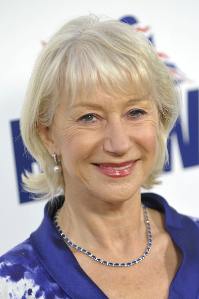 Helen Mirren Short Cut With Bangs [hair,face,blond,hairstyle,lady,head,eyebrow,chin,forehead,smile,helen mirren,consul generals,champagne launch,champagne launch,britweek,residence,los angeles,california]