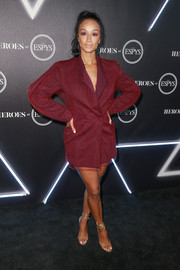 Draya Michele went the menswear-chic route in a loose red tux dress at the Heroes at the ESPYS event.