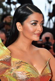 Aishwarya Rai wore her hair down in a sleek straight style at the 2019 Cannes Film Festival screening of 'A Hidden Life.'