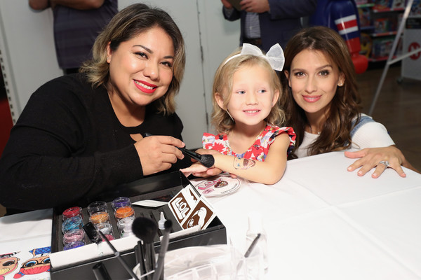 More Pics of Hilaria Baldwin Peep Toe Pumps (4 of 52) - Hilaria Baldwin Lookbook - StyleBistro [l.o.l.,child,fun,event,smile,photography,party,toddler,hilaria baldwin hosts launch,carmen baldwin,hilaria baldwin,pets,nyc,toys ``r us,unboxing video booth,launch]
