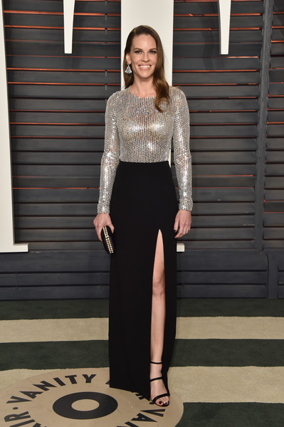 Hilary Swank Sequin Dress