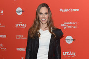 Hilary Swank Leather Jacket