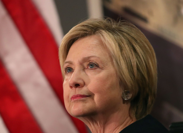 Hillary Clinton wore her usual short bob while attending a State Department ceremony.