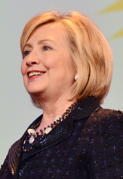 Hillary Clinton Bob [hair,face,hairstyle,blond,chin,eyebrow,bob cut,layered hair,forehead,lip,hillary rodham clinton,stage,philadelphia convention center,pennsylvania,pennsylvania conference for women 2013]