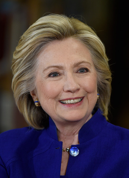 Hillary Clinton Bob [hair,face,chin,hairstyle,blond,smile,official,electric blue,wrinkle,hillary clinton,candidate,hillary clinton holds campaign roundtable,path,citizenship,las vegas,u.s.,nevada,democratic,rancho high school]